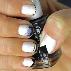 french manicure styles color