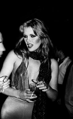 PATTI HANSEN - Anton Perich (1978)  superseventies:    Patti Hansen at Studio 54, 1978.  Photo by Anton Perich.