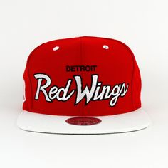 5677586aa67 Detroit Redwings SNAPBACK Mitchell And Ness (Green Under)
