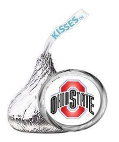 OHIO STATE BUCKEYES kiss labels TAILGATE FOOTBALL PARTY