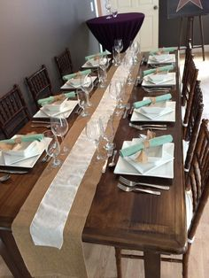 Harvest tables are NEW to Muskoka Party Rentals! Rent yours now! Rustic Feel, Harvest Tables, Table Settings, Table Decorations, Creative, Party, Burlap, Room, Wedding