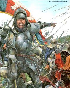 23 de Septiembre de 1459, batalla de Blore Heath, una de los primeros combates durante la Guerra de las Dos Rosas.