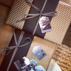 Understated and country inspired wrapping from Elements of Style.