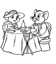 the rescuers coloring page - Drawings For Children To Color