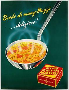 Old Advertisements, Retro Advertising, Vintage Ads, Vintage Posters, Vintage Food, Fürstentum Liechtenstein, Old Commercials, Maggi, Cool Typography