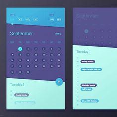 Great colors! | Designer: Gal Shir #ui #userinterface #iphoneapp #app #appdesign#graphic #design #flatdesign #flat
