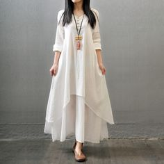 2016 мода леди элегантный тонкий поддельные две части хлопок льняное платье женский свободного покроя Vestidos женщины v-образным вырезом с длинными рукавами , платья-линии