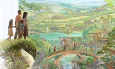 Una familia camina hacia el Paraíso