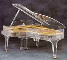 See-Through Grand Pianos - The Transparent Grand Pianos by Crystal Music Company are Revealing (GALLERY)