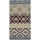 Found it at AllModern - Veranda Chocolate / Blue Rug