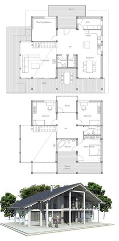 Modern house with four bedrooms. Ideal house to the beach or lot with big backyard, three bathrooms.