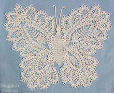 Linda borboleta de crochê rendado