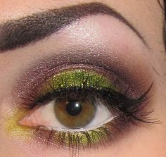 colorful but still muted, plus liquid liner.... yes