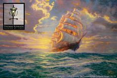 Thomas Kinkade Courageous Voyage painting is shipped worldwide,including stretched canvas and framed art.This Thomas Kinkade Courageous Voyage painting is available at custom size. Thomas Kinkade Art, Kinkade Paintings, Oil Paintings, Angel Paintings, Ocean Paintings, Disney Paintings, Landscape Paintings, Thomas Kincaid, Rice Paper Decoupage