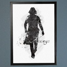 Harry Potter Snape Always Watercolor