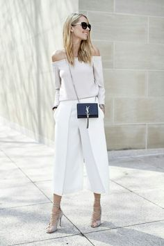 Monochromatic, cropped pants