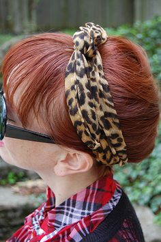 Dirty hair day fix: french braid then tuck the tail into bottom of braid & add a bandana or scarf
