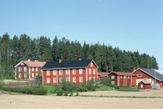 Old farmhouses. South Ostrobothnia province of Western Finland. Old Farm Houses, Stables, Finland, Westerns, Buildings, Nostalgia, Southern, Farmhouse, Cabin