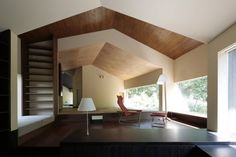 Rooms that follow the landscape by On Design - love the geometric design.