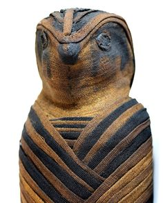 An Egyptian Linen Wrapped Falcon Mummy with X-Ray, Ptolemaic Period ca