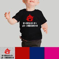 Camiseta bebé Anarkia en la guardería