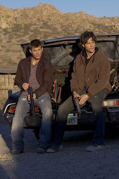 Jensen Ackles & Jared Padalecki as Dean and Sam Winchester.