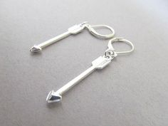 Arrow Dangle earrings with Leaver back by IrisJane on Etsy