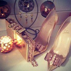 Gold. Louboutin.