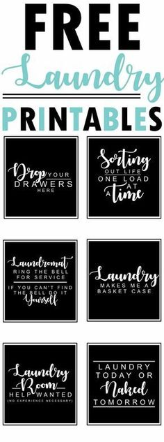 Free Laundry Room Printables-funny sayings and quotes for the laundry http://room-www.themountainviewcottage.net