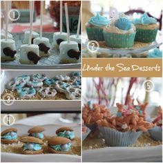 Under the Sea Party Desserts - mermaid, octonauts, beach parties