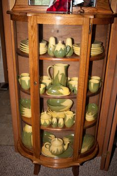 King Corn china in kitchen cupboard Vintage Dishes, Vintage Kitchen, Vintage Items, Kitchen Items, Kitchen Decor, Kitchen Cupboard, Antique China Cabinets, Corn Dishes, Shawnee Pottery