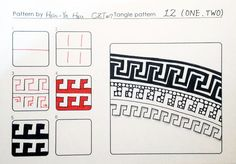 One Two~Zentangle