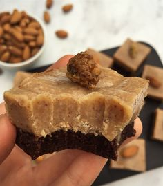 RAW VEGAN CARAMEL BROWNIES