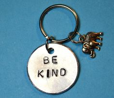UK Be Kind Key chain Husbands Gift Gift by BeesHandStampedGifts  with <3 from JDzigner www.jdzigner.com