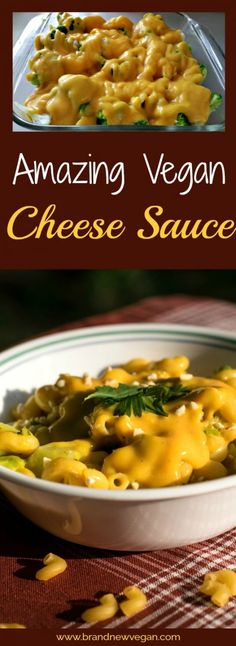 Let me tell you, this is by far the creamiest, the cheesiest, the most Amazing Vegan Cheese Sauce ever! No tofu, no cashews. It will really blow your mind! Brand New Vegan Vegan Cheese Recipes, Vegan Cheese Sauce, Vegan Sauces, Vegan Foods, Vegan Dishes, Vegetarian Recipes, Healthy Recipes, Vegan Meals, Vegetarian Appetizers