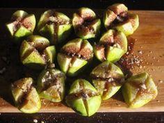 Fresh Figs with Fleur de Sel, Aged Balsamic, & Hazelnuts