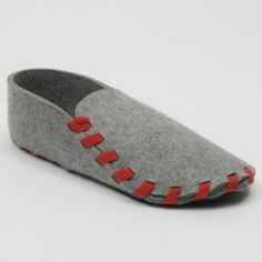 Slippers made from one piece of wool felt