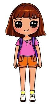 #, Cute Drawings Of People, Cute Food Drawings, Cute Cartoon Drawings, Cute Animal Drawings, Disney Drawings, Cute Kawaii Girl, Cute Cartoon Girl, Kawaii Art, Kawaii Girl Drawings