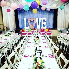 Daughters wedding watermillock village hall makeover Lake District 😍