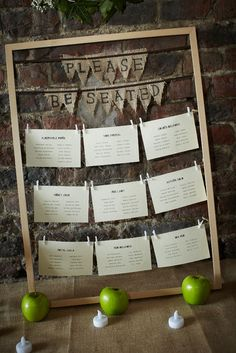 our barn wedding - table plan