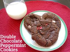 Flavors by Four: Double Chocolate Peppermint Cookies