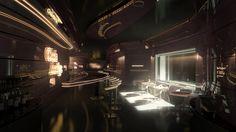 Cyberpunk Atmosphere, Future, Futuristic Interior, Taurus III - Club Auriga by =Siamon89 on deviantART