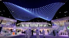 A breath taking technology that combines the latest findings of engineering with the most innovative forms of arts. When colourful lights and ripples invade ...