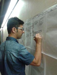 Marco Serra di Open Hub ha realizzato il visual storytelling dell'incontro (21/lug/14)  Foto: Patrizia Cinti