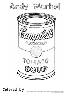 Soup Can Clip Art Black And White Pictures to Pin on ...