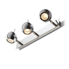 Wall light with three reflectors, each of which can be tilted in two axis. Spot Light, Studio, Wall Lights, Canning, Interior, Design, Home Decor, Homemade Home Decor, Appliques
