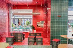 Hk Restaurant, Bar Restaurant Design, Design Café, Menu Design, Chinese Theme, Architecture Restaurant, Cafe Interior Design, Interior Ideas, Coffee Shop Design
