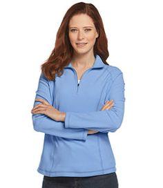 #LLBean: Women's Fitness Fleece, Quarter-Zip Pullover