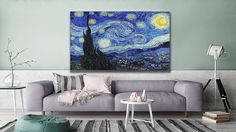 """If you love the classics, you can find this """"Starry Night"""" by Vincent Van Gogh in Vincent Van Gogh, Best Sellers, Canvas Art, Wall Art, Night, Classic, Gem, Artwork, Paintings"""