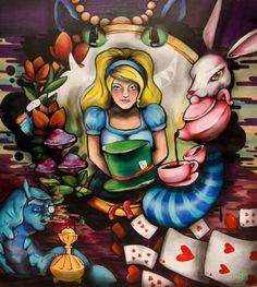 """WONDERLAND"" ♦ HANDMADE by YEZ ♦ pintado a mano - acrilicos sobre madera  follow me:   https://www.facebook.com/freak.estudiocreativo http://www.behance.net/helloyez  #alicia #wonderland #painting #drawing"